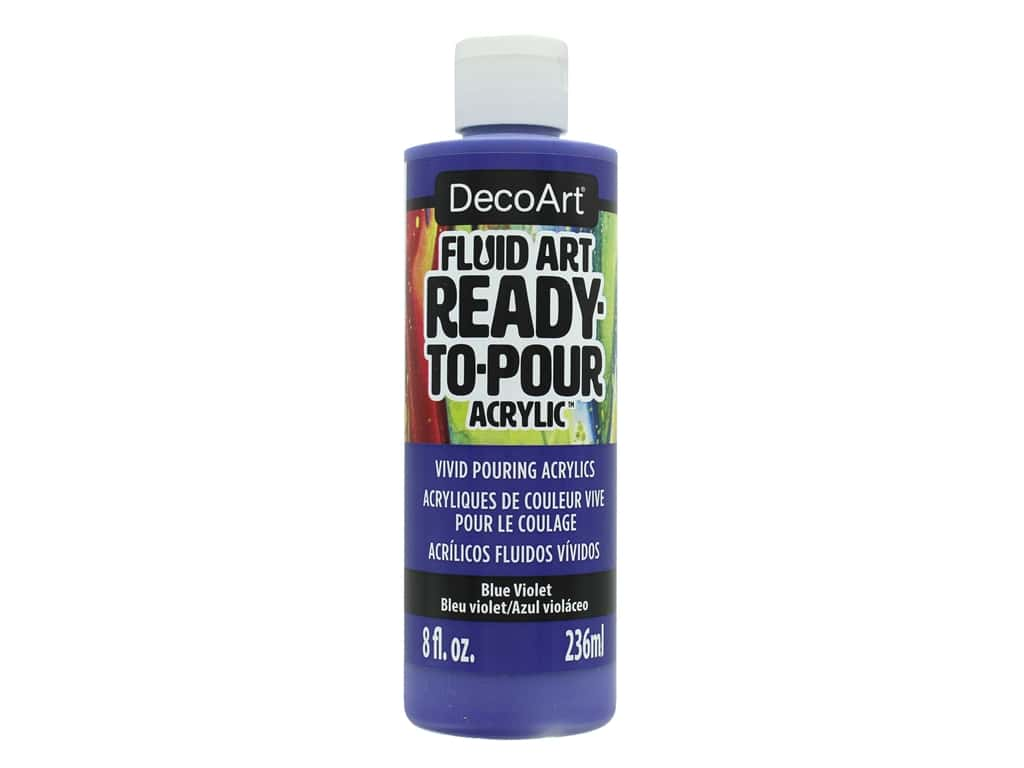 DecoArt Fluid Art Ready-To-Pour Acrylic Paint 8 oz. Blue Violet