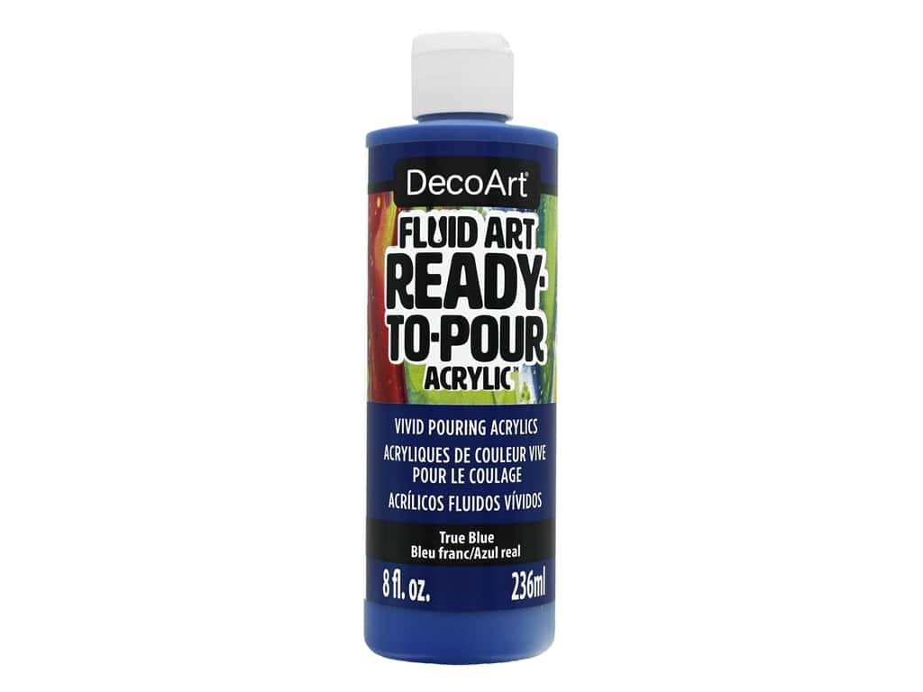 DecoArt Fluid Art Ready-To-Pour Acrylic Paint 8 oz. True Blue