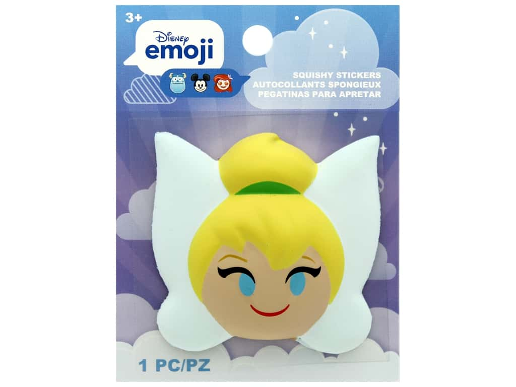 Disney Emoji Squishy Sticker Tinkerbell