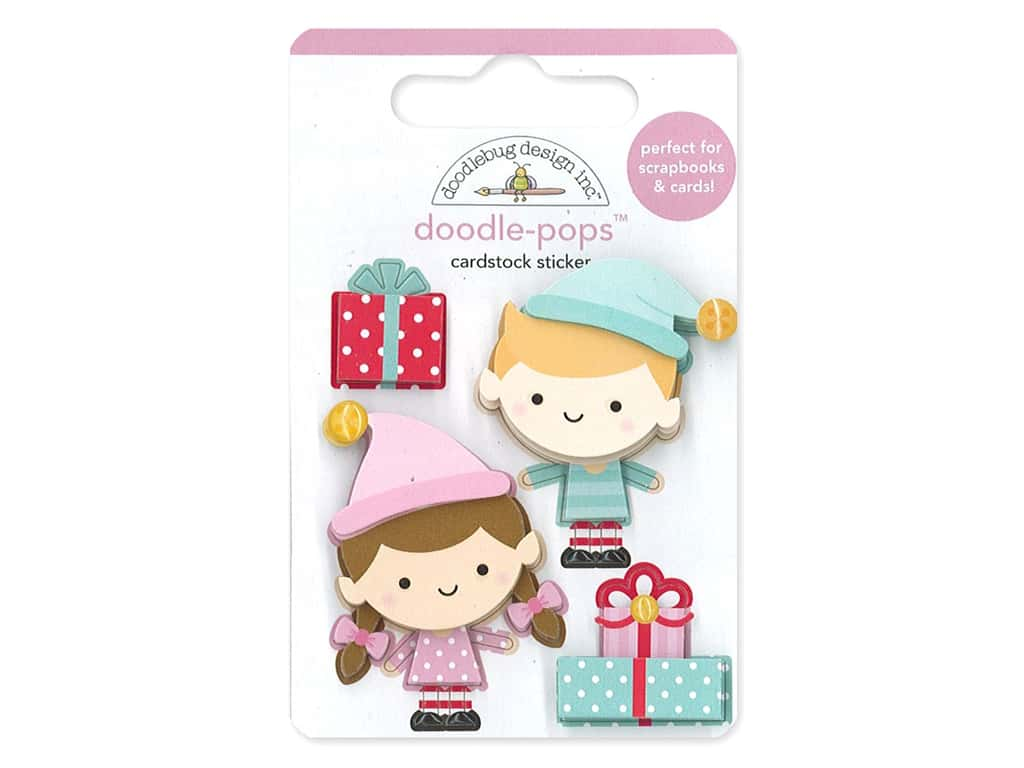 Doodlebug Collection Christmas Magic Doodle Pops Santa's Helpers