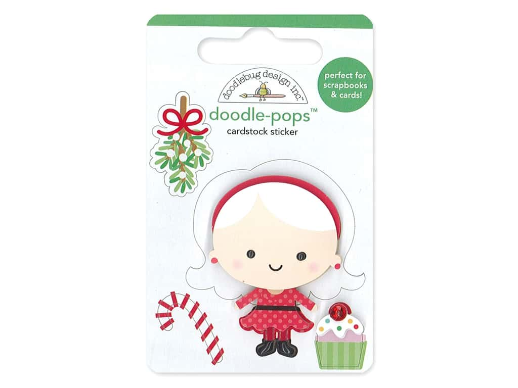 Doodlebug Collection Christmas Magic Doodle Pops Mrs. Claus