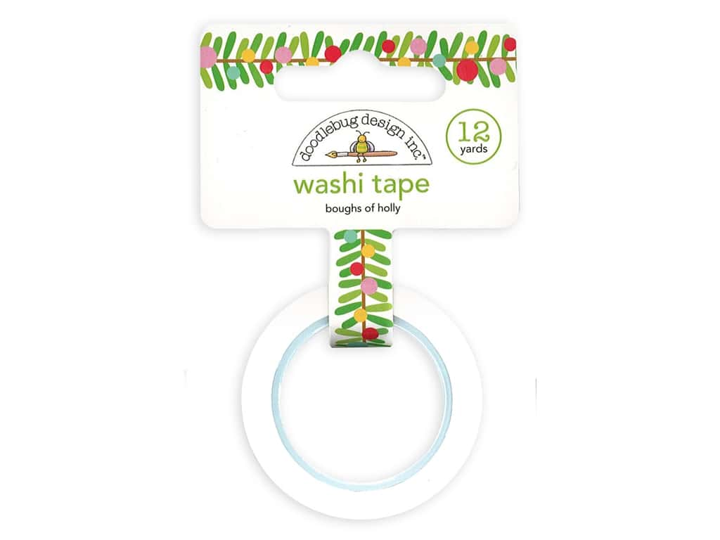 Doodlebug Collection Christmas Magic Washi Tape Boughs Of Holly