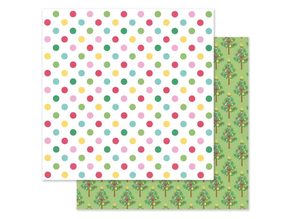 Doodlebug Collection Christmas Magic Paper 12 in. x 12 in. Jolly Holiday (25 pieces)