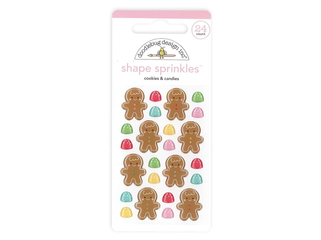Doodlebug Collection Christmas Magic Sprinkles Shape Cookies & Candies