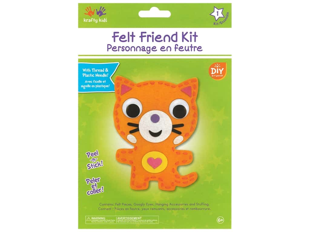 Multicraft Krafty Kids Felt Friends Kit Cat