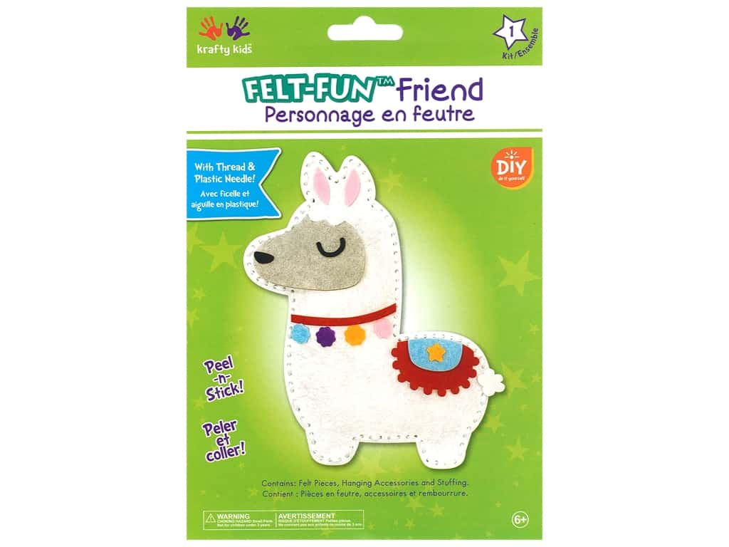 Multicraft Krafty Kids Felt Friends Kit Llama