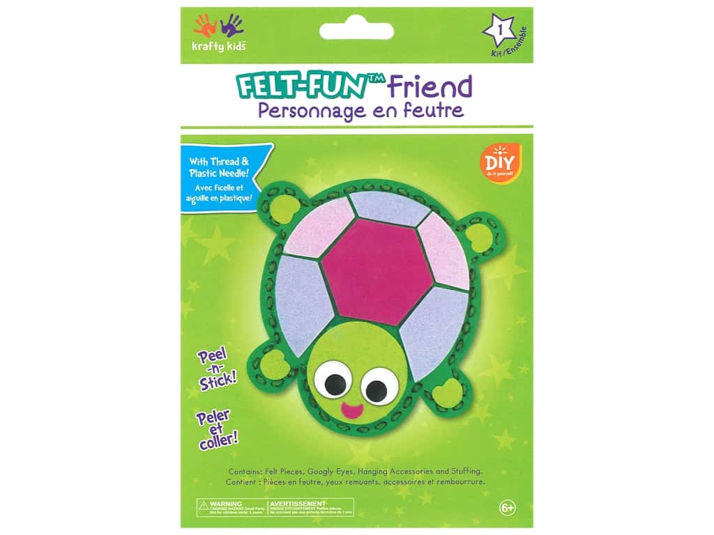 Multicraft Krafty Kids Felt Friends Kit Turtle