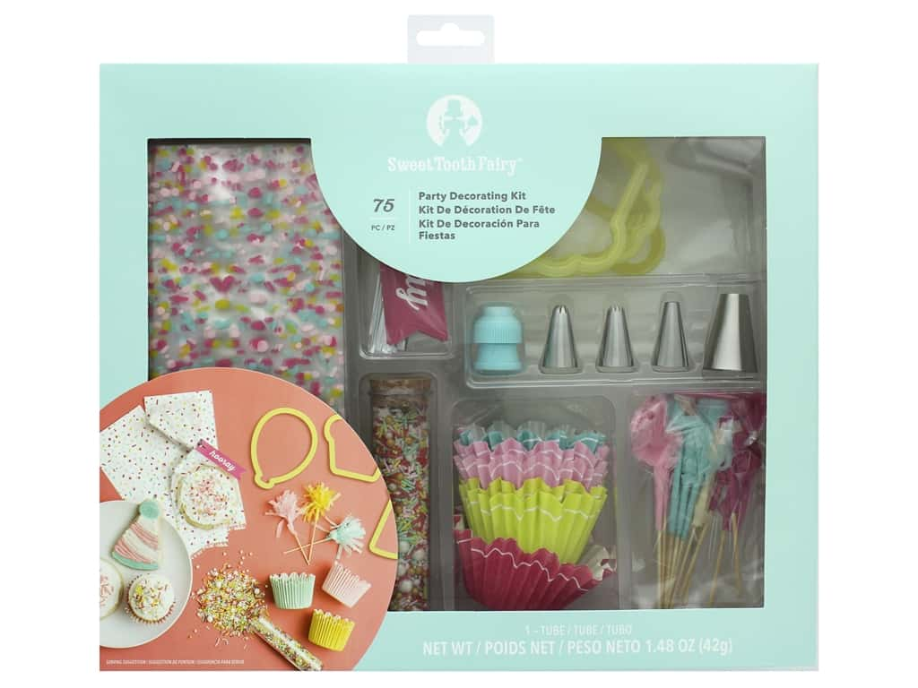 American Crafts Collection Sweet Tooth Fairy Decorating Kit Party 75 pc