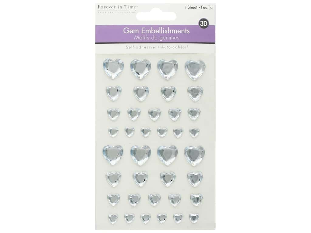 Multicraft Sticker 3D Gem Crystal Hearts