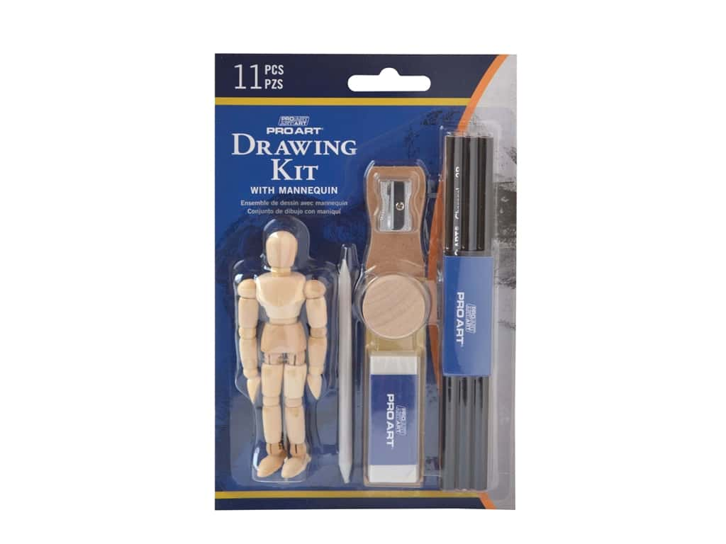 Pro Art Drawing Kit with Mannequin