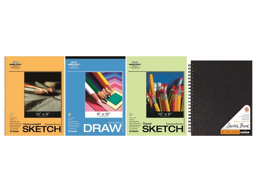 Pro Art Draw/ Sketch/Wire Bound Paper Value Pack