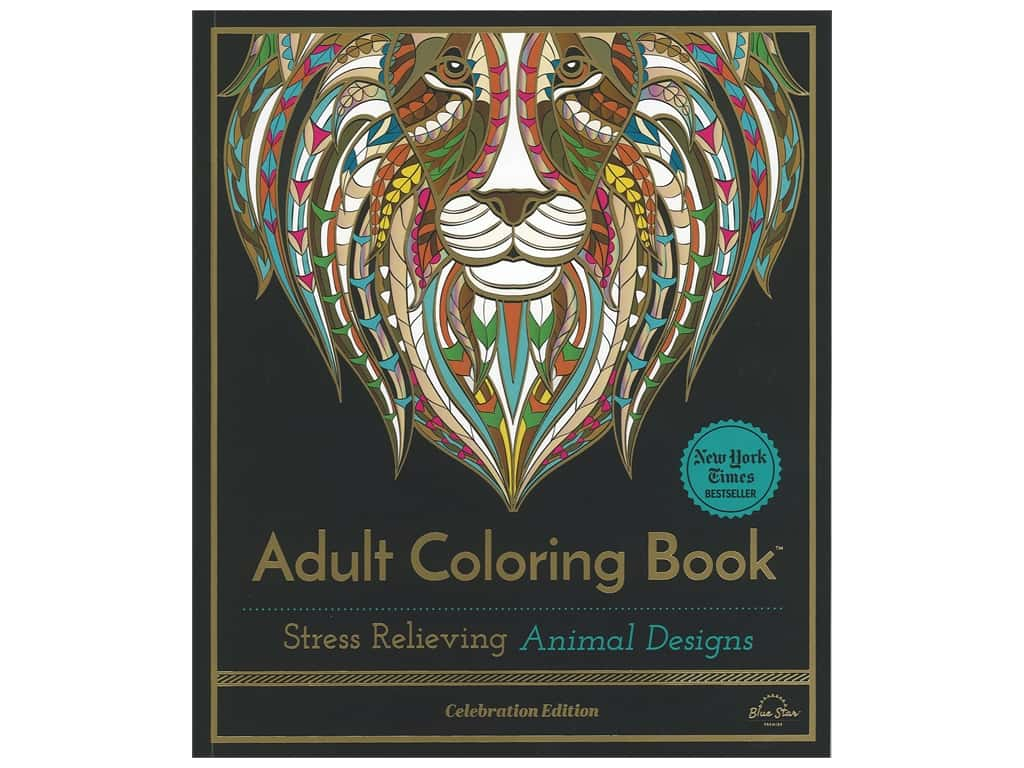 Blue Star Press Stress Relieving Animal Designs Celebration Edition Coloring Book