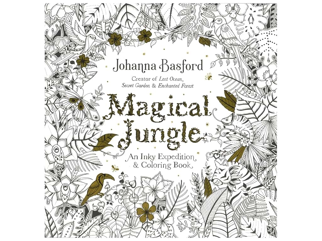 Penguin Magical Jungle Coloring Book
