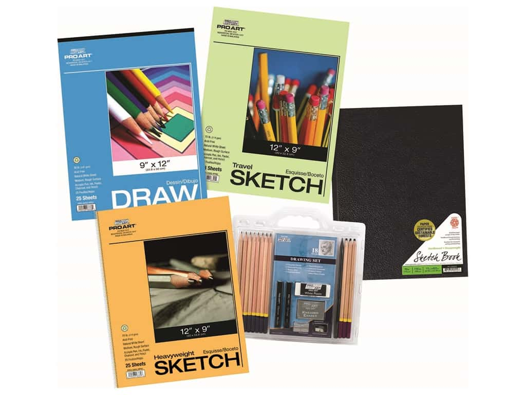 Pro Art Drawing Set Paper/Pencil Value Pack
