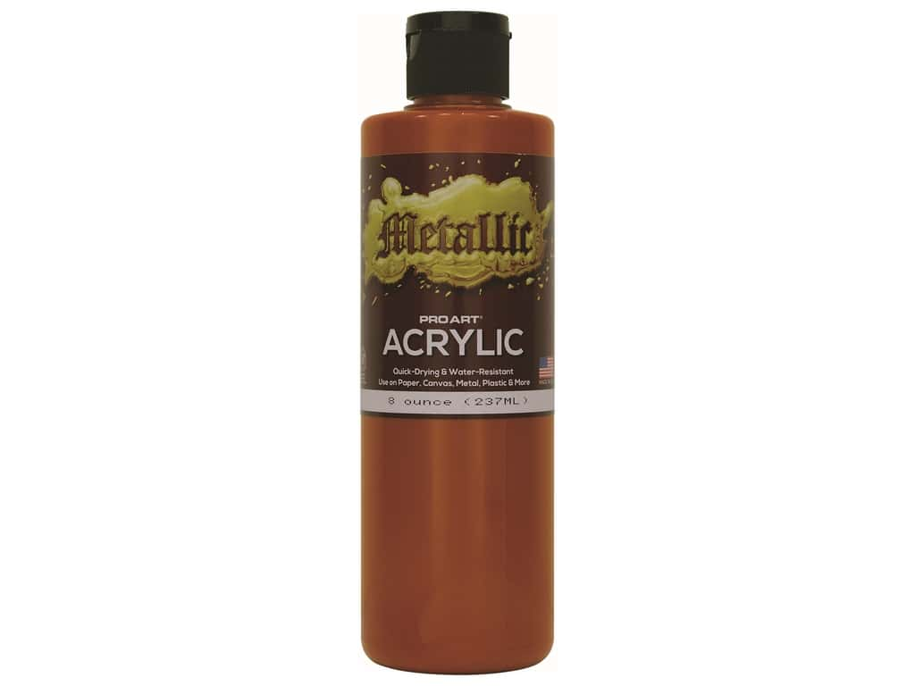 Pro Art Metallic Acrylic Paint 8 oz. Copper