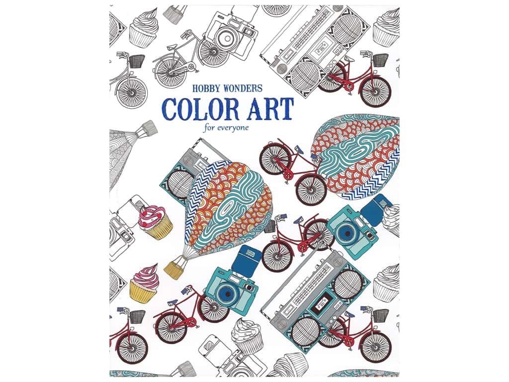 Leisure Arts Hobby Wonders Color Art For Everyone Coloring Book