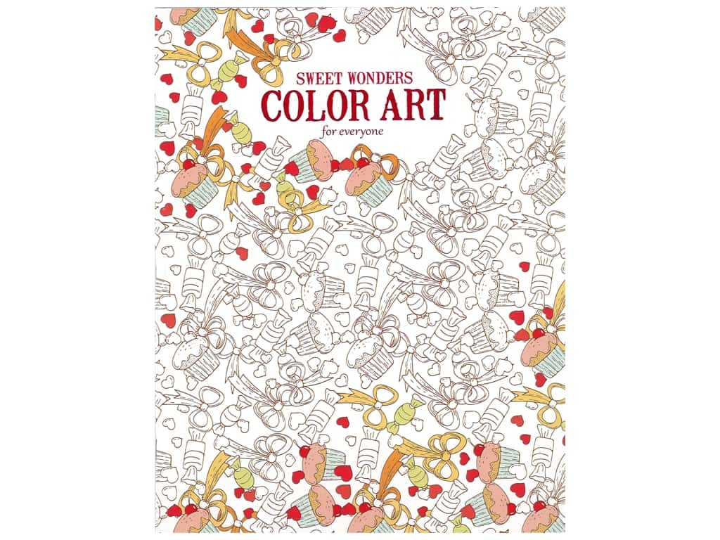 Leisure Arts Sweet Wonders Color Art For Everyone Coloring Book