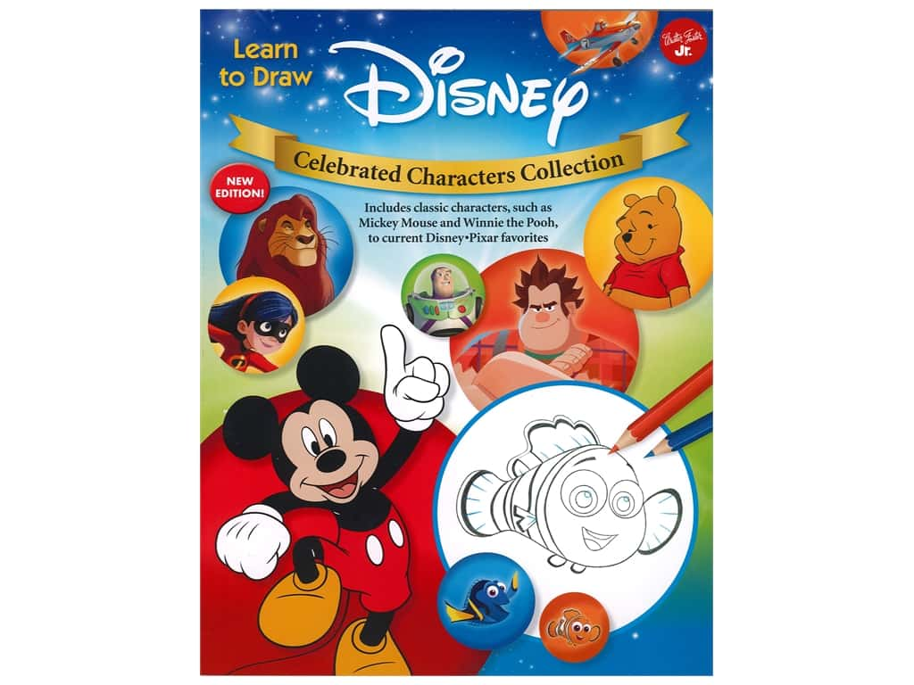 Walter Foster Learn to Draw Disney Celebrated Characters Collection