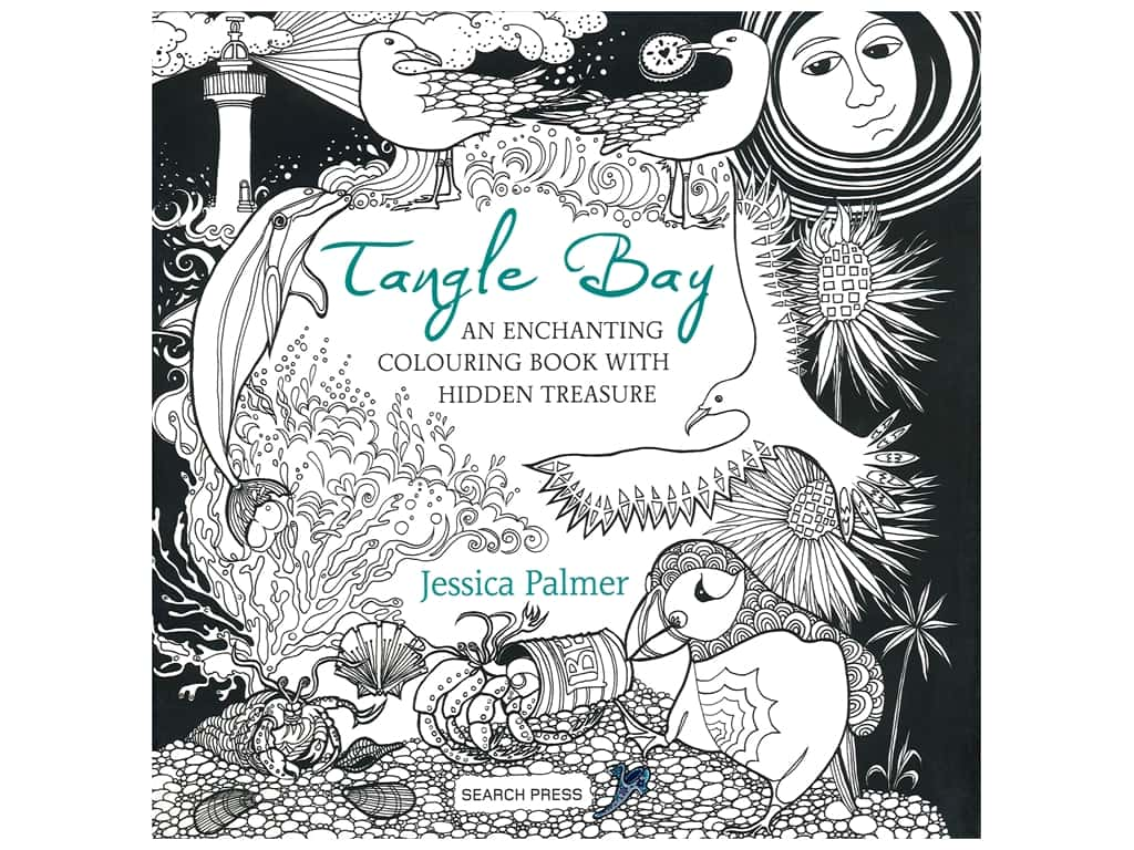 Search Press Tangle Bay Coloring Book