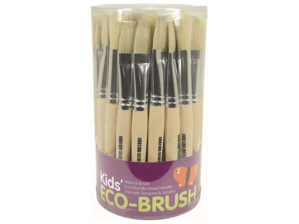 Art Advantage Brush .5 in. Stubby Flat/Round Assortment 36 pc Tub (36 pieces)