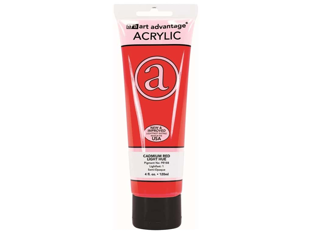Art Advantage Acrylic Paint 4 oz. Cadmium Red Light Hue