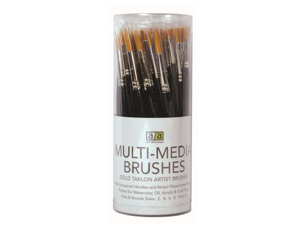 Art Advantage Multi-Media Brushes 72 pc. Gold Talkon Assortment