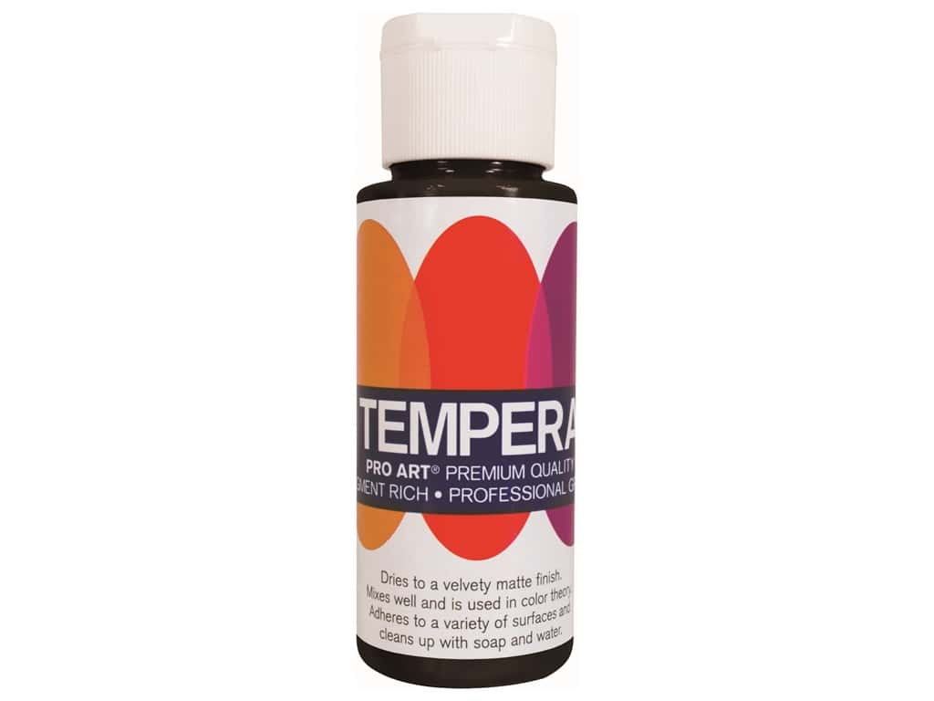 Pro Art Tempera Paint - Black 2 oz.