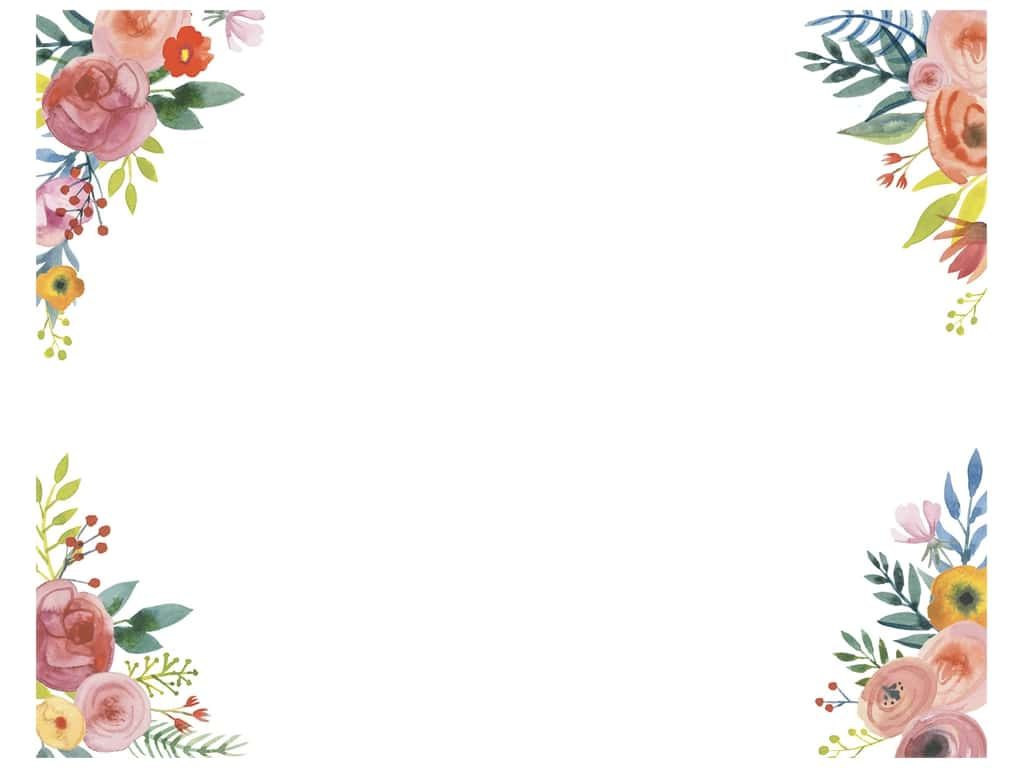 American Crafts Poster Board 22 x 28 in. Floral Corners