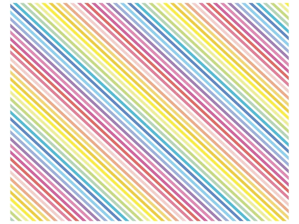 American Crafts Poster Board 22 x 28 in. Rainbow Stripes