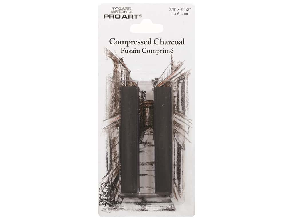Pro Art Mark Compressed Charcoal Dark Grey  2 pc
