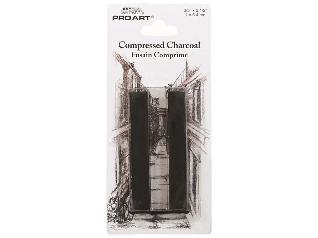 Pro Art Compressed Charcoal 2 pc. Black