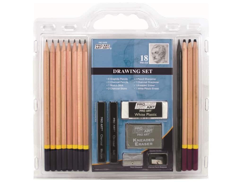 Pro Art Pencil Set Sketch & Draw 18 pc