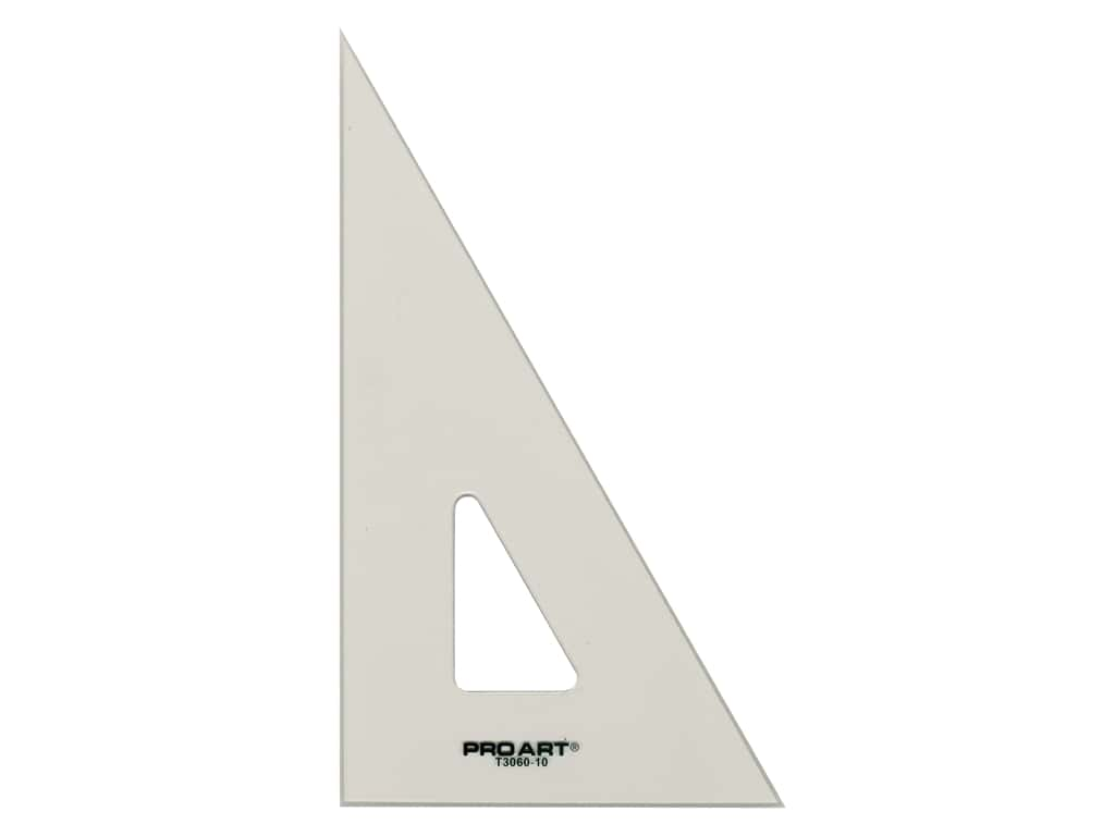 Pro Art Drafting Triangle With Ink Edge & Finger Lift 10 in. Smoke
