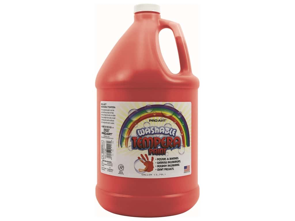 Pro Art Washable Tempera Paint Gallon Red