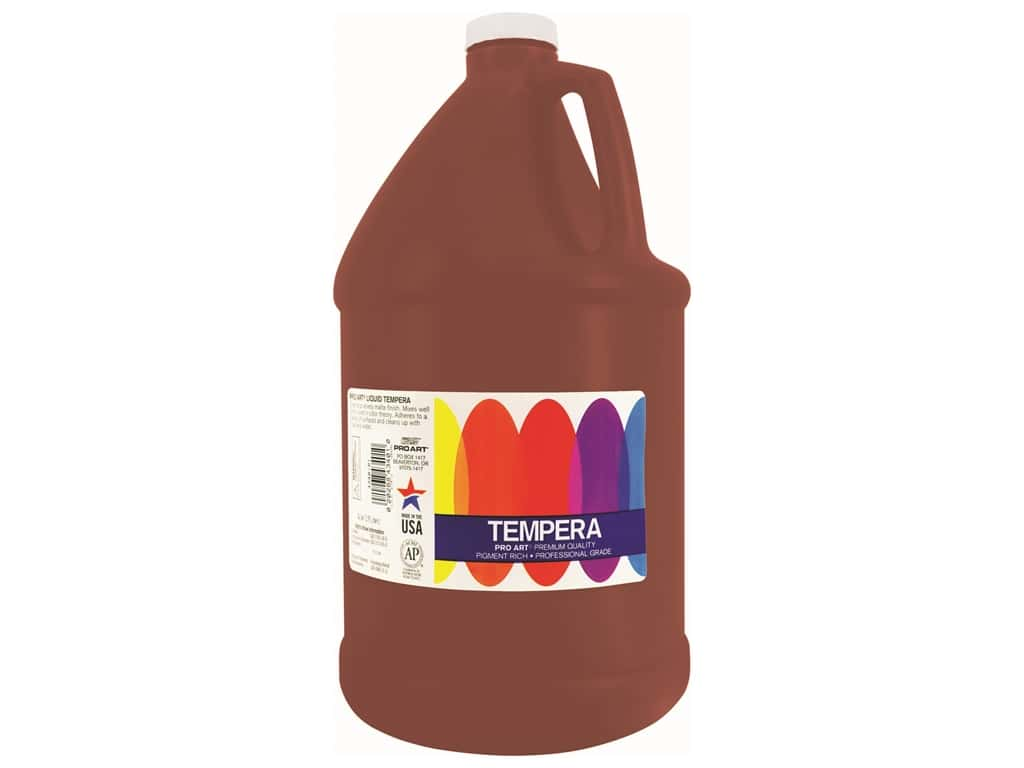 Pro Art Liquid Tempera Paint Gallon Brown