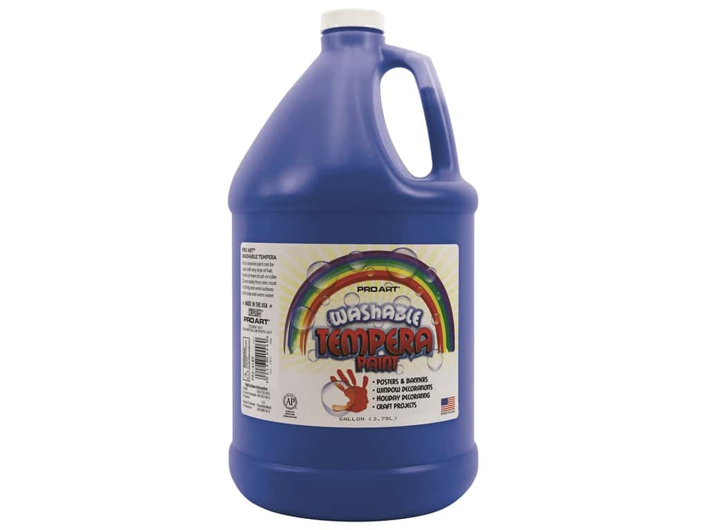 Pro Art Washable Tempera Paint Gallon Ultra Blue