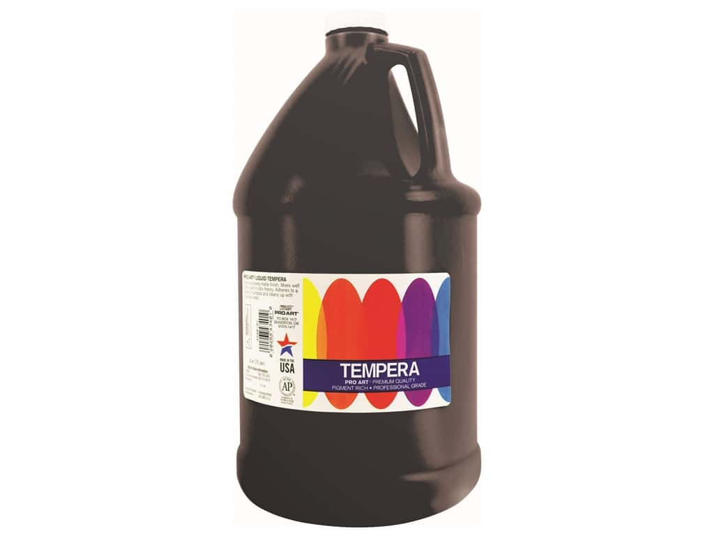 Pro Art Liquid Tempera Paint Gallon Black