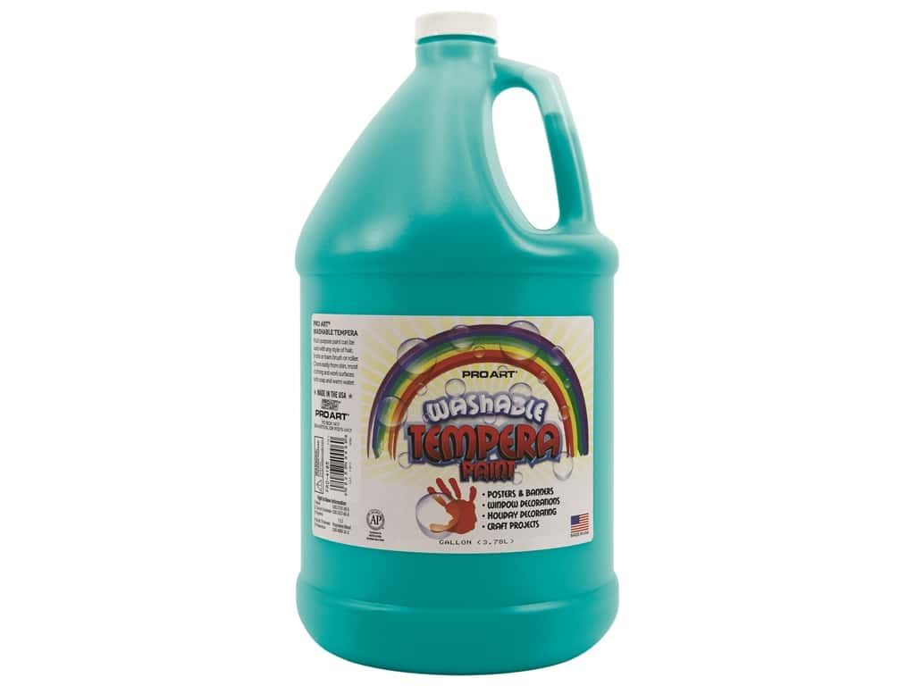 Pro Art Washable Tempera Paint Gallon Turquoise