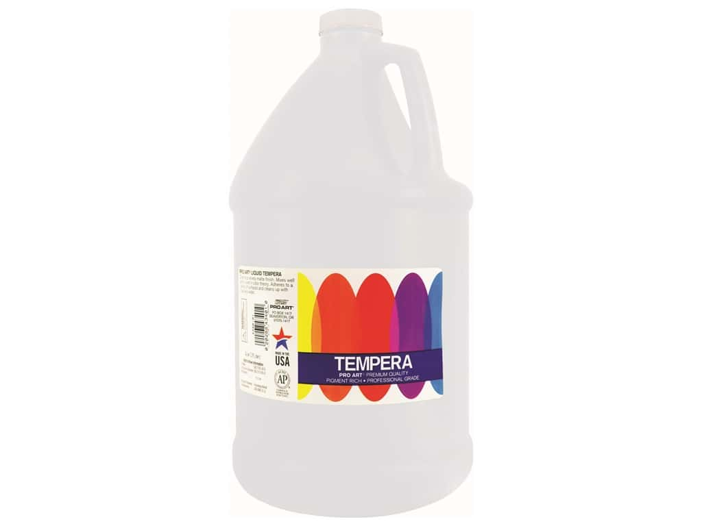 Pro Art Liquid Tempera Paint Gallon White
