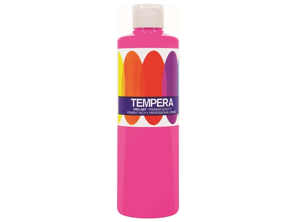 Pro Art Tempera Paint - Fluorescent Pink 8 oz.