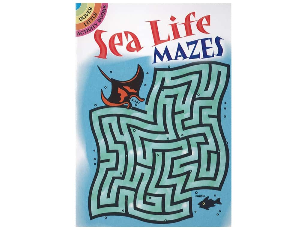 Dover Publications Little Sea Life Mazes Book