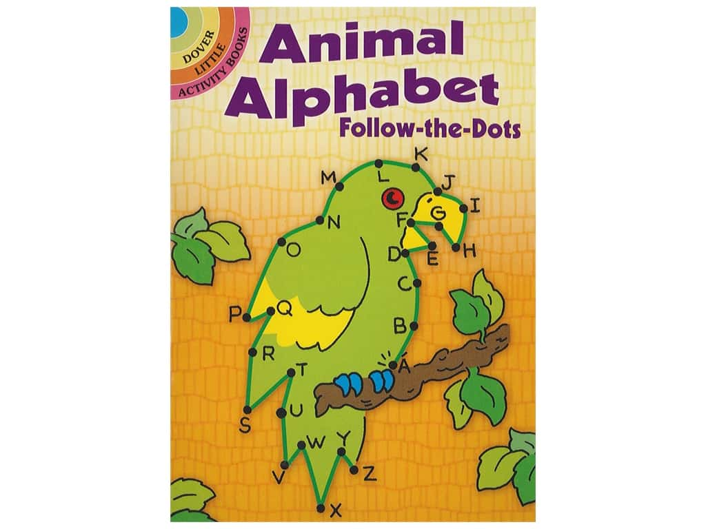 Dover Publications Little Animal Alphabet Follow-The-Dots Book