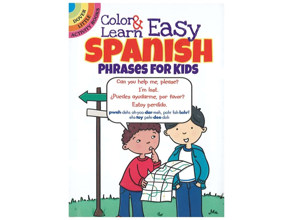 Dover Publications Little Color & Learn Easy Spanish Book