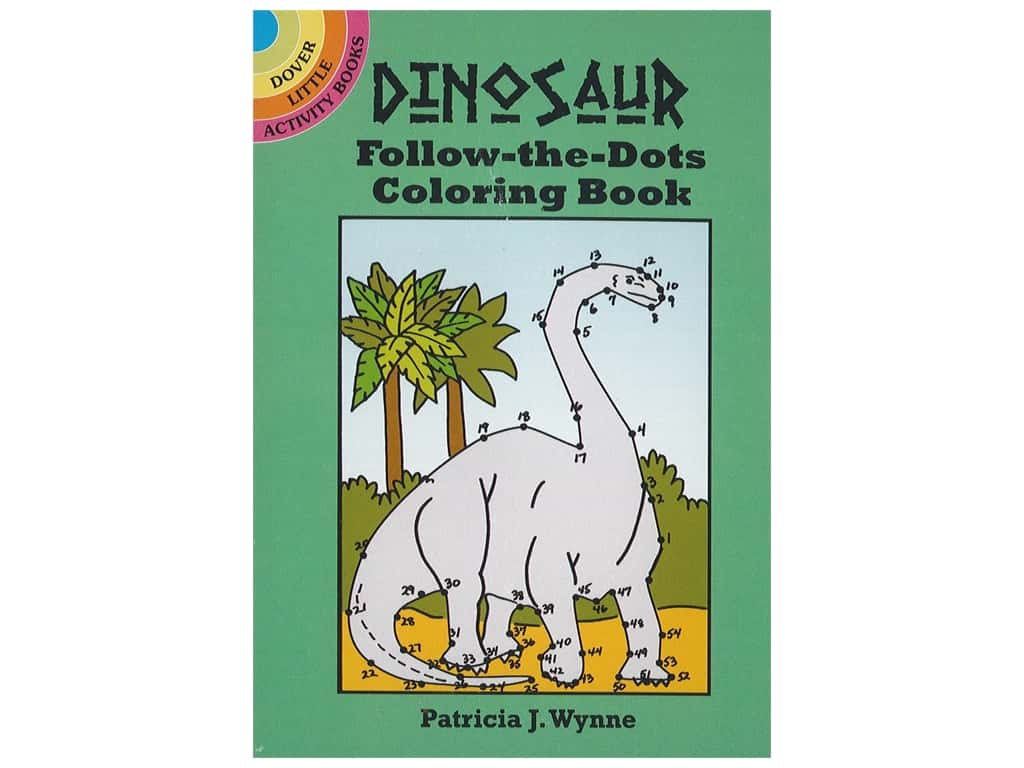 Dover Publications Little Dinosaur Follow-The-Dots Coloring Book