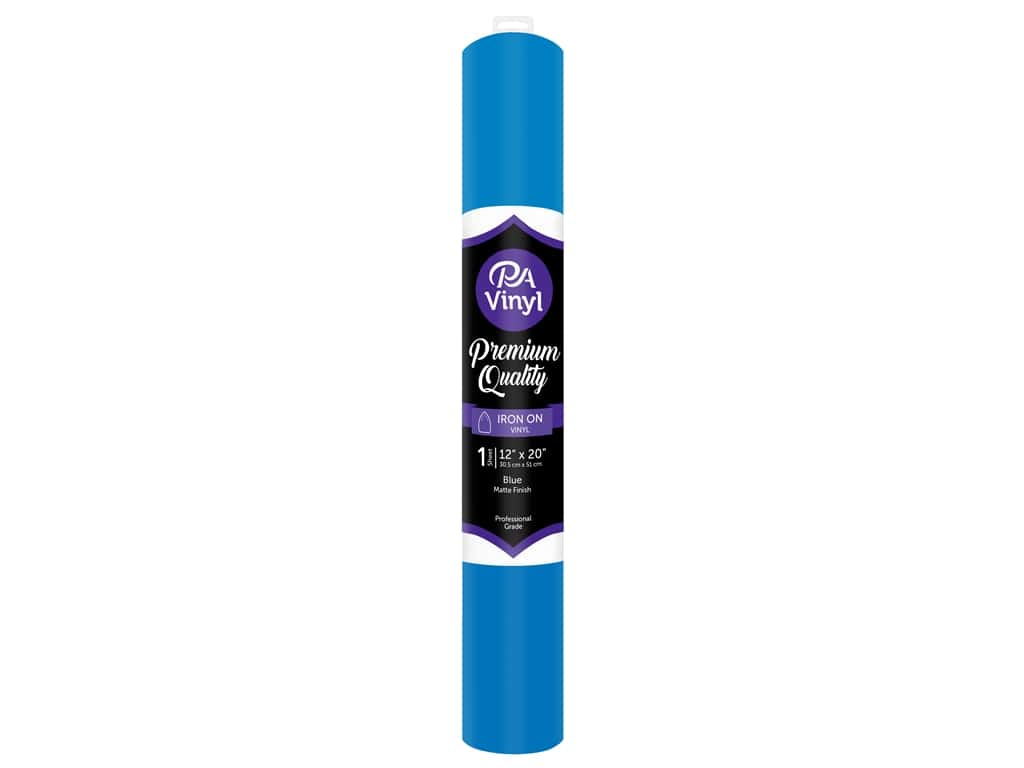 PA Iron-On Vinyl 12 x 20 in. Matte Blue