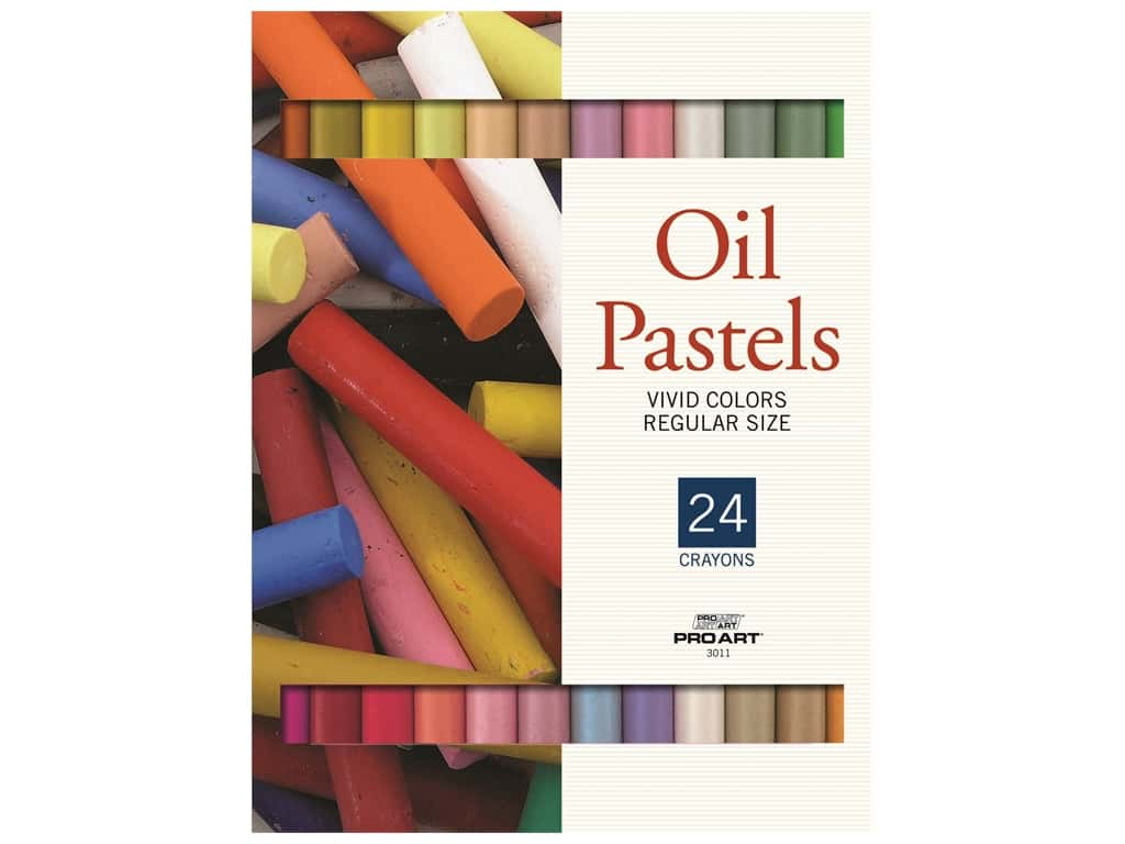 Pro Art Oil Pastel Set Regular 24 Vivid Color