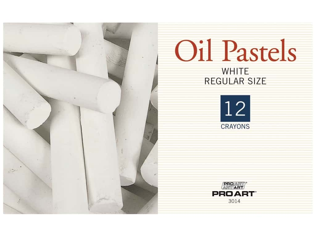 Pro Art Oil Pastel Regular White 12 pc