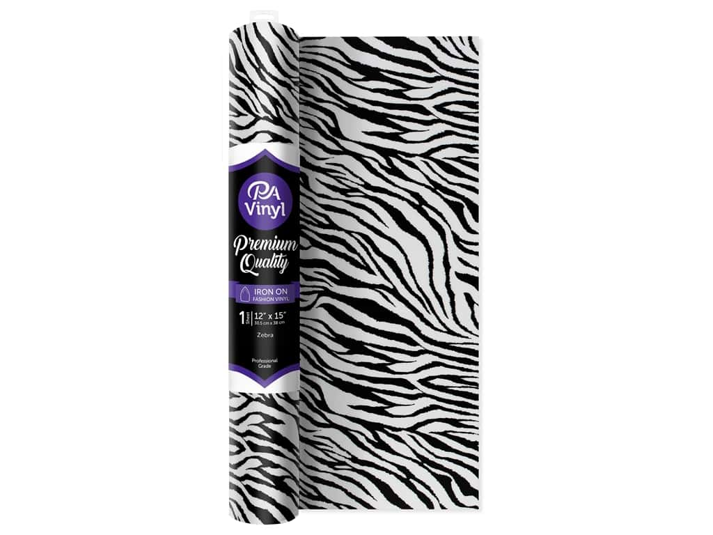 PA Iron-On Vinyl 12 x 15 in. Zebra