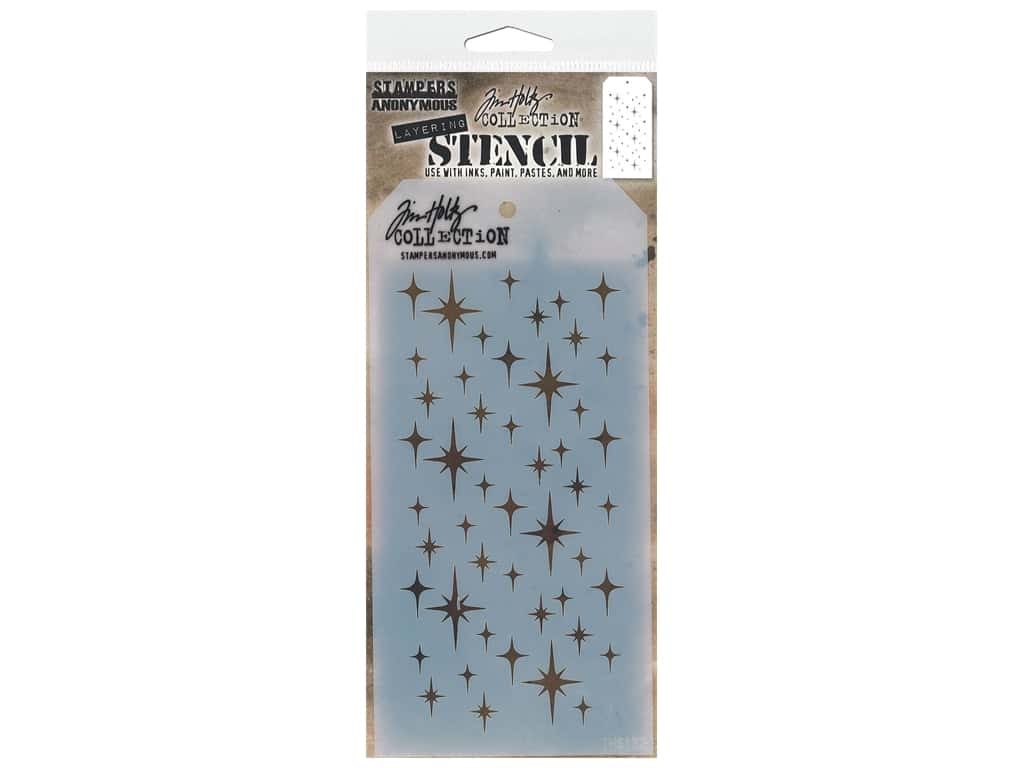 Stampers Anonymous Tim Holtz Layering Stencil - Sparkle