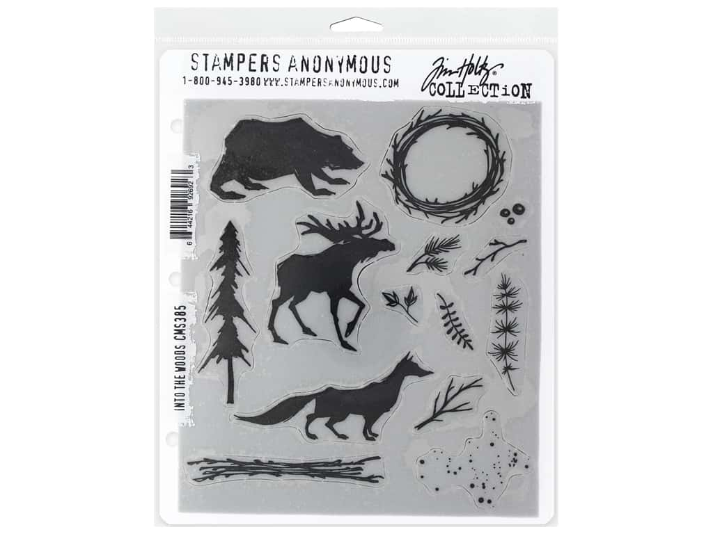 Stampers Anonymous Tim Holtz Cling Mount Stamp Set - Into The Woods